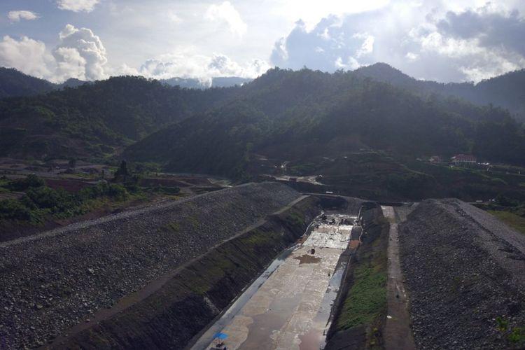 Konstruksi proyek Bendungan Lolak di Bolaangmongondow, Sulawesi Utara, dikerjakan oleh PT Pembangunan Perumahan (persero) Tbk.