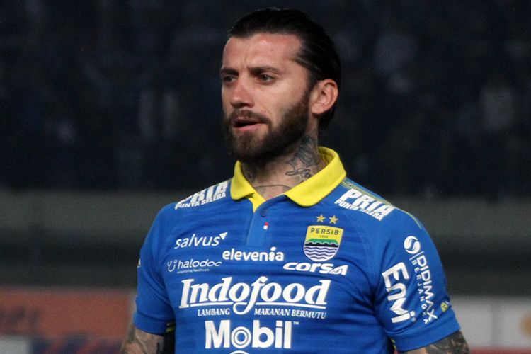 Pemain Persib Bandung, Bojan Malisic. (KOMPAS.com/SEPTIAN NUGRAHA)