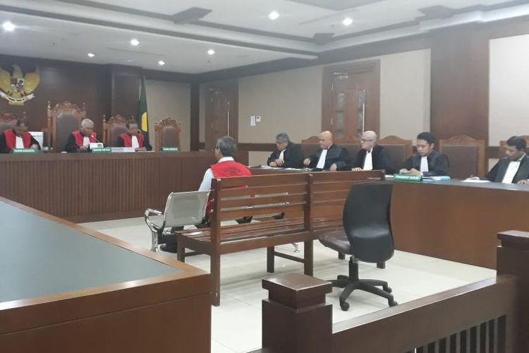 Desrizal Chaniago di ruang sidang Pengadilan Negeri Jakarta Pusat, Selasa (15/10/2019).