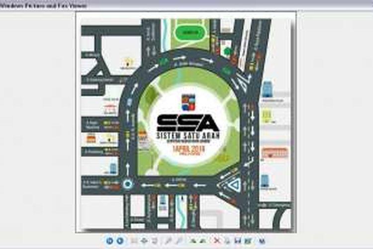 Peta sistem satu arah (SSA) yang akan diterapkan Pemerintah Kota Bogor pada tanggal 1 April 2016 mendatang.
