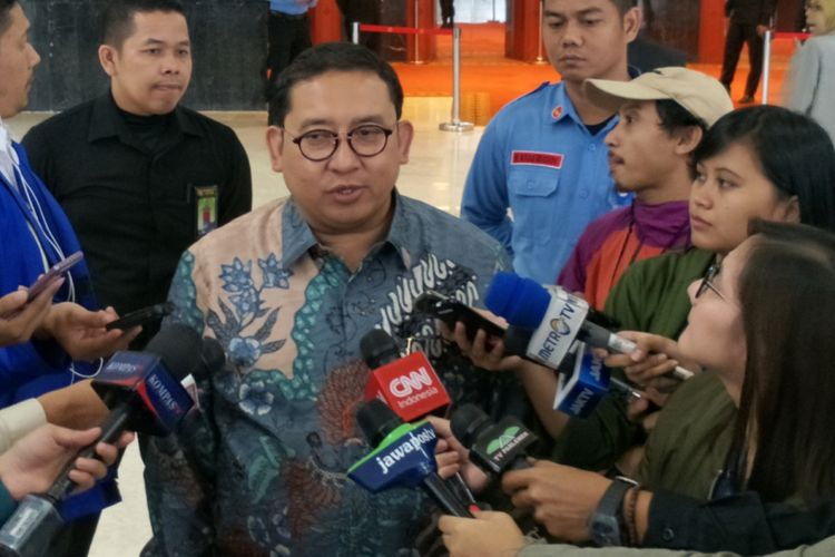 Wakil Ketua Umum Partai Gerindra Fadli Zon saat ditemui di Kompleks Parlemen, Senayan, Jakarta, Senin (23/4/2018).