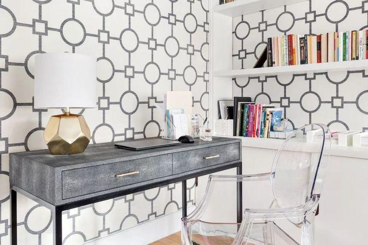 Ruang kerja stylish karya Allison Lind Interiors