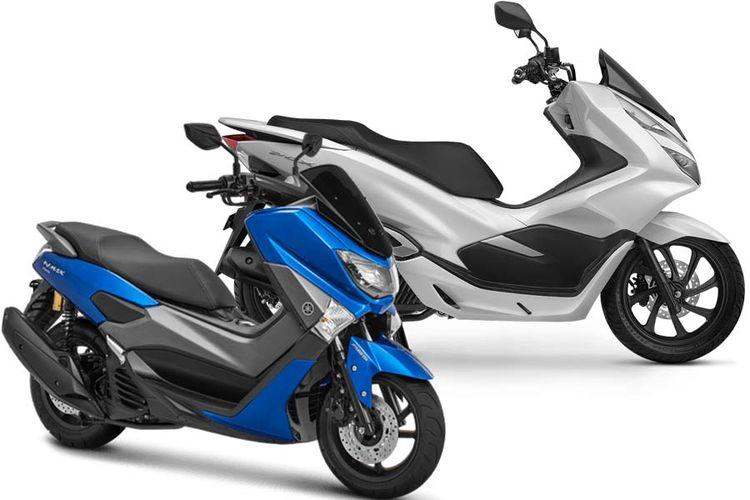 Yamaha NMAX dan Honda All-New PCX 150.