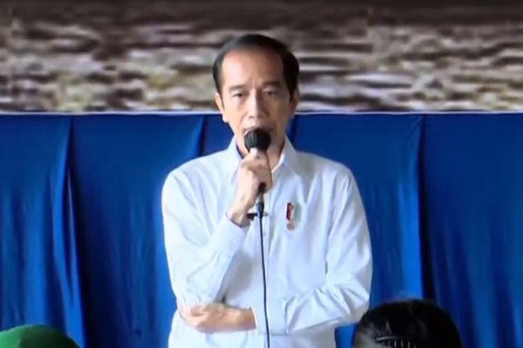 Foto tangkapan layar YouTube Sekretariat Presiden:  Presiden Joko Widodo bertemu dengan perwakilan keluarga 53 awak KRI Nanggala-402, Kamis (29/4/2021).