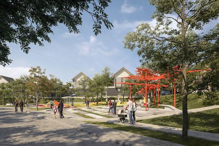 Area playground di setiap klaster Kota Baru Parahyangan.