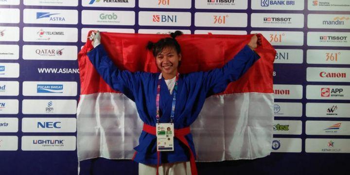 Khasani Najmu Shifa, atlet Indonesia pertama yang berhasil mempersembahkan medali untuk Indonesia melalui cabang olahraga Kurash di Asian Games 2018. THERESIA SIMANJUNTAK/BOLASPORT.COM