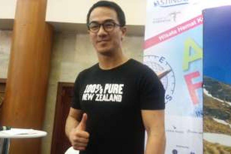 Joe Taslim diabadikan di JCC Senayan, Jakarta Pusat, Sabtu (26/3/2016) sore.