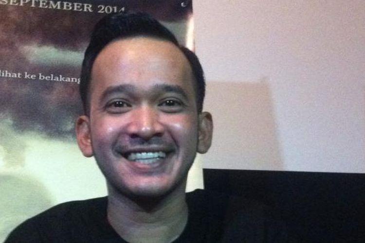 Ruben Onsu hadir dalam press screening film horor Tumbal 97, di Planet Hollywood Jakarta, Selasa (2/9/2014).
