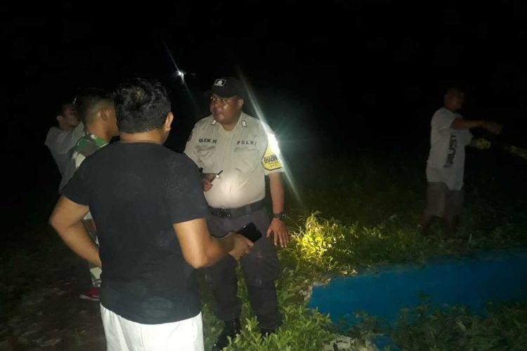 Seorang bocah di Ambon terjatuh di kolam pengelolaan tinja di kawasan Wara, Kecamatan Sirimau Ambon, Selasa malam (17/3/2020)