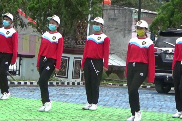 Pasukan Paskibraka Tetap Semangat Berlatih di Tengah Pandemi Covid, Meski dengan Protokol Kesehatan Ketat