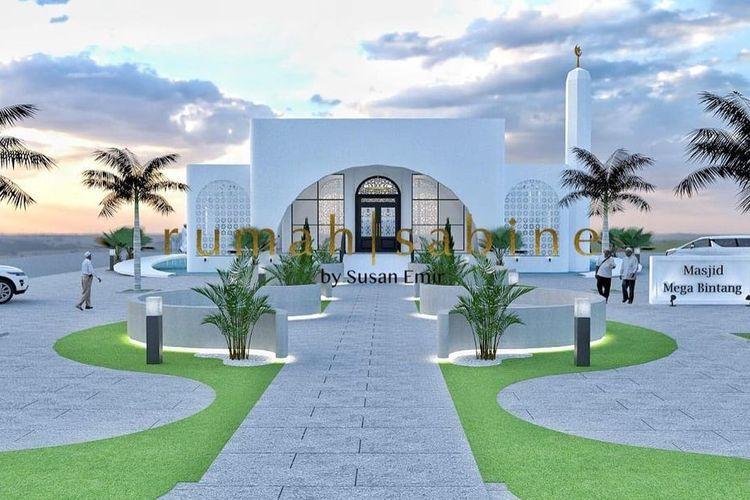 Desain Masjid Mega Bintang milik Ivan Gunawan.