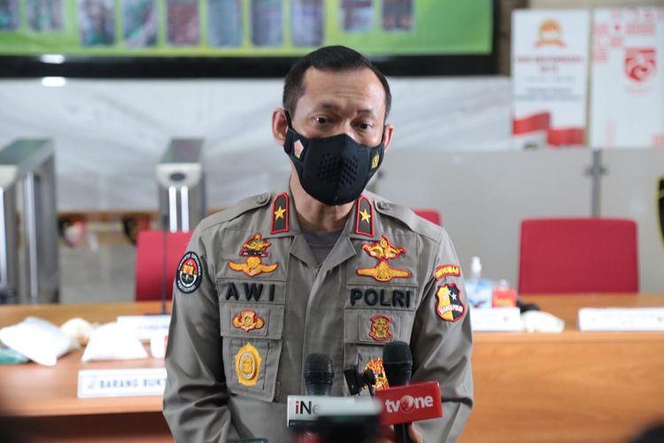 Kepala Biro Penerangan Masyarakat Divisi Humas Polri Brigjen (Pol) Awi Setiyono di Gedung Bareskrim, Jakarta Selatan, Senin (16/11/2020).