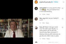 Mengira Wasit All England, Netizen Indonesia Ternyata Salah Serang Instagram Stephen Fry