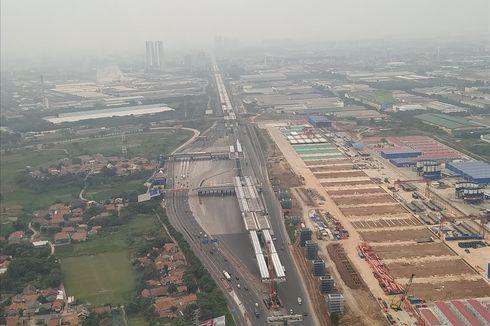Pantauan Udara, Lalu Lintas di Gerbang Tol Cikarang Utama Lancar
