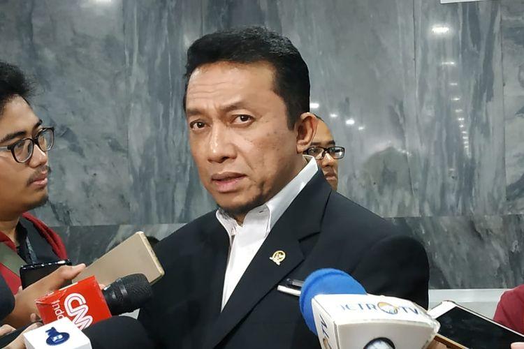 Ketua DPP Partai Keadilan Sejahtera (PKS) Tifatul Sembiring di Kompleks Parlemen, Senayan, Jakarta, Kamis (3/10/2019).