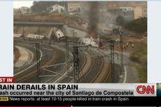 Kecelakaan Kereta di Spanyol, Sedikitnya 20 Orang Tewas
