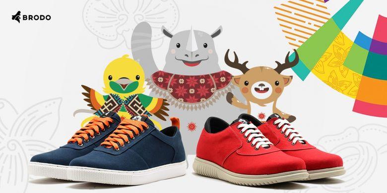 Sepatu edisi spesial Asian Games 2018 dari Brodo