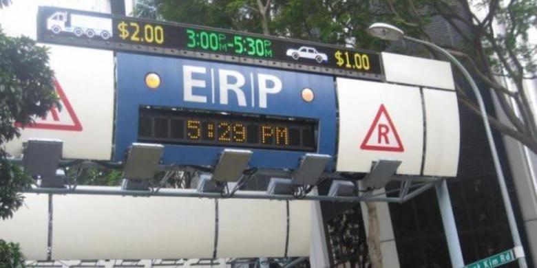 Foto ilustrasi jalan berbayar elektronik (ERP)