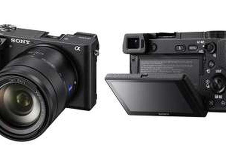 Tampak depan dan belakang kamera Sony a6300
