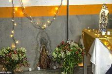 Noda Air Mirip Bunda Maria, Warga Kolombia Berdoa agar Covid-19 Selesai
