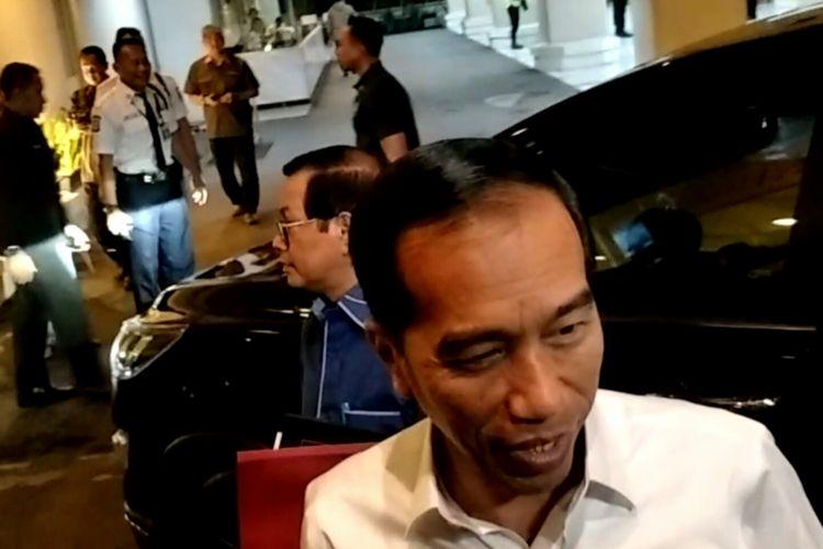 Presiden Joko Widodo menjalani simulasi debat Pilpres bersama Maruf Amin