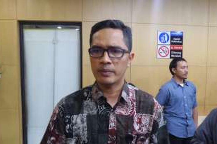 Juru Bicara KPK Febri Diansyah di Gedung KPK Jakarta, Kamis (22/12/2016).