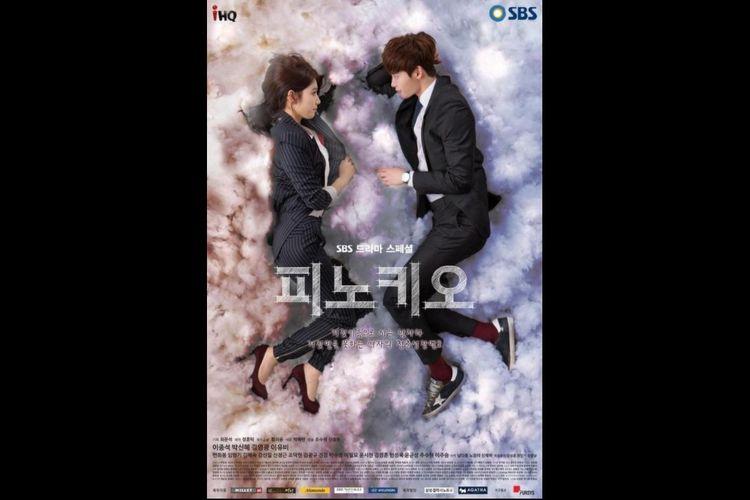 Park Shin Hye dan Lee Jong Suk dalam serial drama Pinocchio (2014).