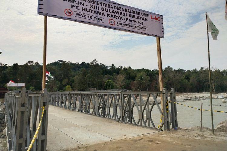 Jembatan Bailey di Kabupaten Luwu Utara, Provinsi Sulawesi Selatan.