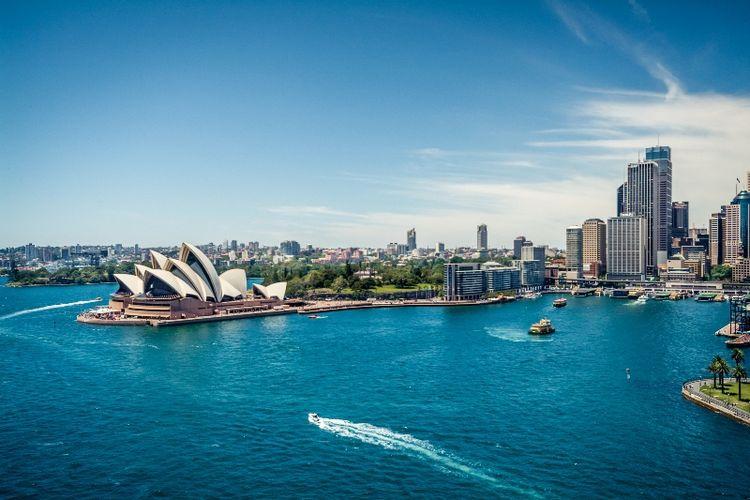 Gedung Opera di Sydney, Australia.