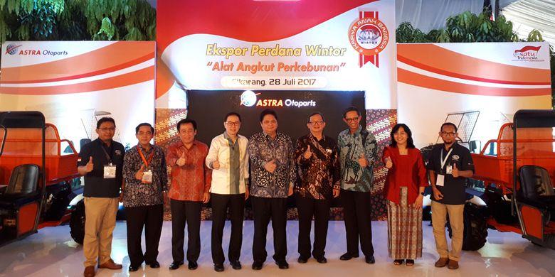 Ekspor perdana Wintor dilakukan dari Asta Otoparts Cikarang, Jawa Barat