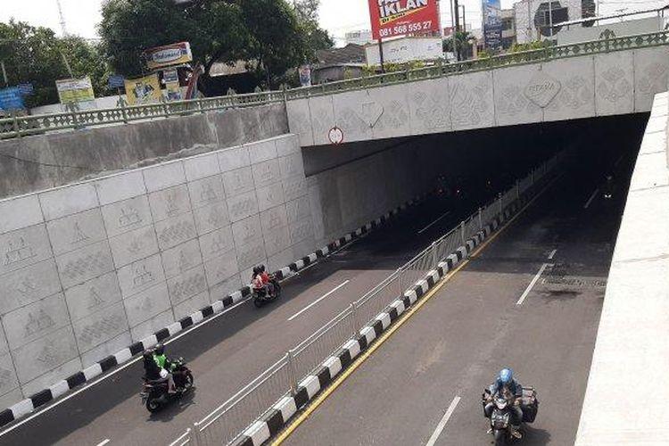 Penampakan Jalur Underpass Kentungan Yogyakarta, Jumat (13/3/2020).
