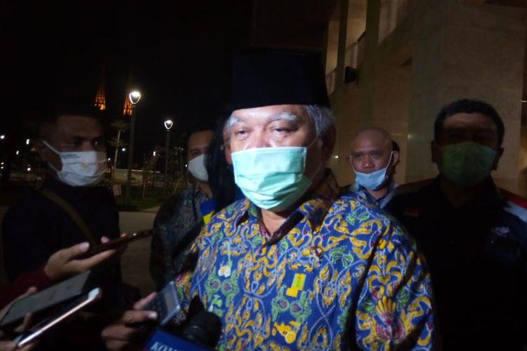 Menteri Pekerjaan Umum dan Perumahan Rakyat (PUPR) Basuki Hadimuljono menunjau Masjid Istiqlal Jakarta, pasaca renovasi, Rabu (22/7/2020).