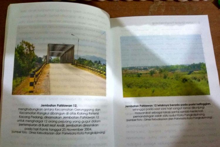 Gambar Jembatan 12 dalam buku profil Kota Pangkal Pinang yang disusun Dinas Pariwisata Pangkal Pinang.