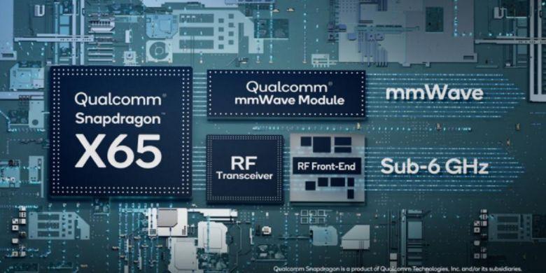 Qualcomm Snapdragon X65 dapat mengunduh data hingga 10Gbps.