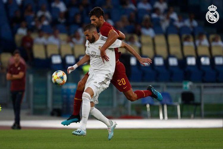 Laga Mabel Green Cup mempertemukan AS Roma vs Real Madrid di Stadion Olimpico, 11 Agustus 2019.