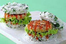 Resep Burger Nasi Isi Daging Ayam, Makan Siang Bisa Dimasak Cepat