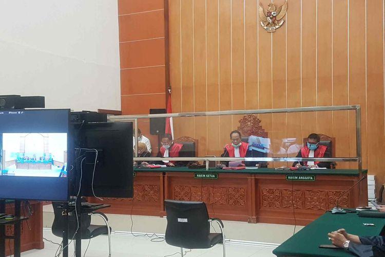 Suasana sidang lanjutan John Kei di Pengadilan Negeri Jakarta Barat Rabu (11/5/2021).