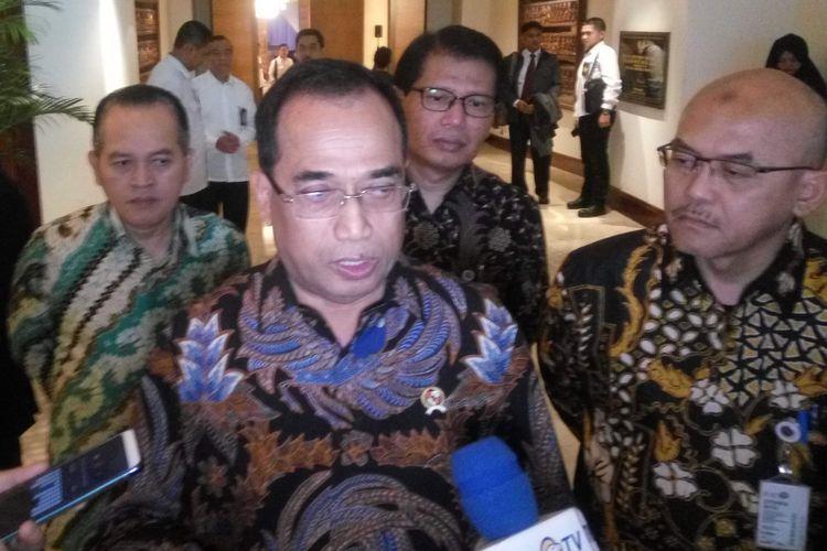 Menteri Perhubungan Budi Karya Sumadi di Jakarta, Rabu (12/12/2018).
