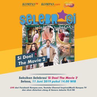 Program Selebrasi (Selebritas Beraksi) akan menampilkan Wizzy dan para pemain Si Doel The Movie 2, Selasa (11/6/2019) pukul 14.00 WIB.