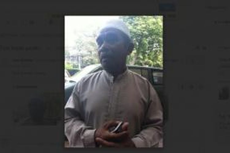 Ayah Gayatri Wailissa, Dedy Darwis Wailissa, di Rumah Sakit Abdi Waluyo, Jakarta Pusat, Jumat (24/10/2014).