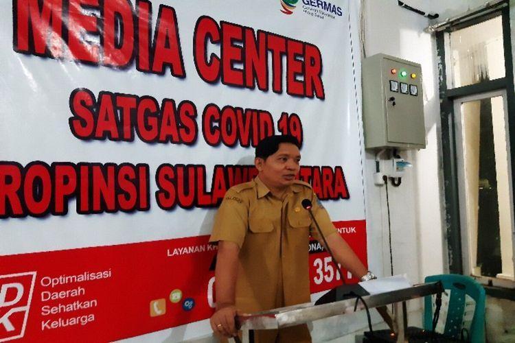 Jubir Satgas Covid-19 Sulut dr Steven Dandel saat memberikan penjelasan terkait perkembangan kasus Covid-19, di kantor Dinkes Sulut, Senin (23/3/2020) pukul 18.29 WITA
