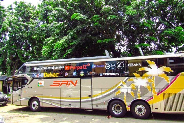 Bus PO SAN yang Roadshow ke Sumatera