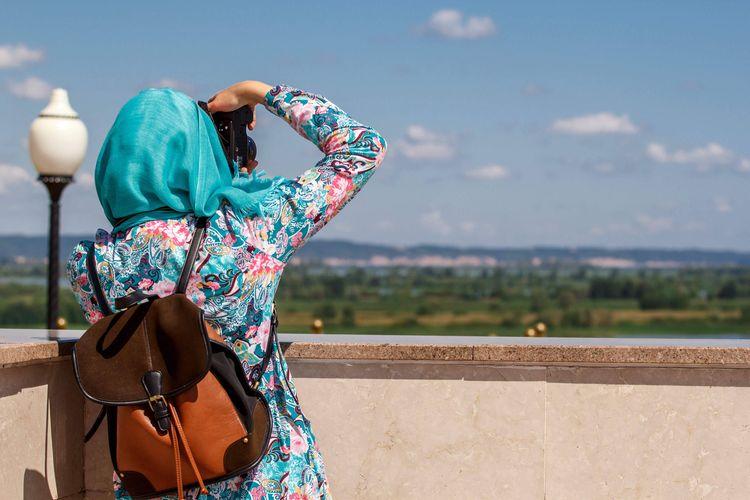 Ilustrasi wisatawan Muslim.