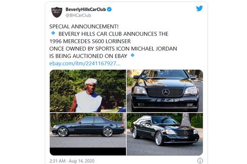 Dilelang di eBay, Mobil Mercy Bekas Michael Jordan Laku Rp 2,9 Miliar
