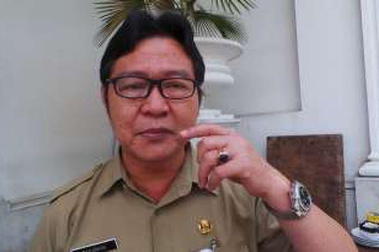Kepala Dinas Kelautan, Pertanian, dan Ketahanan Pangan (DKPKP) DKI Jakarta, Darjamuni, di Balai Kota DKI Jakarta, Selasa (25/10/2016).