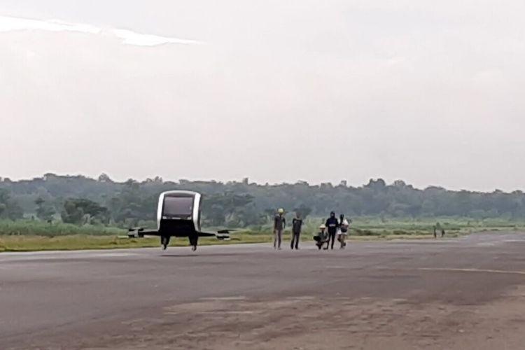 Frogs 282 Drone Taxi Pertama di Indonesia Uji Terbang di Lanud Gading, Gunungkidul Sabtu (7/3/2020)