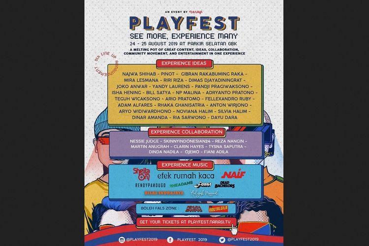Lineup Playfest 2019.