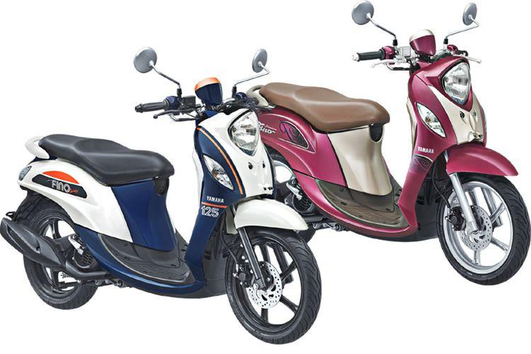Yamaha Fino Sporty dan Premium ban tapak lebar.