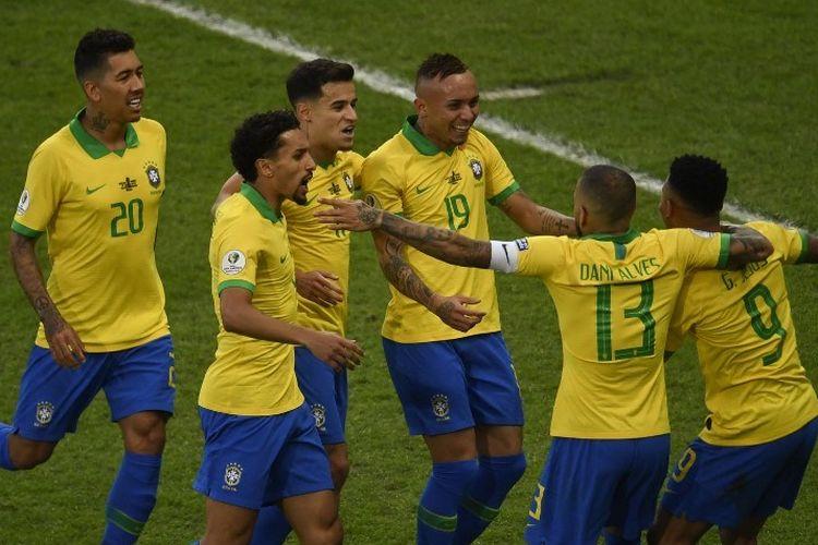 Babak I Brasil Vs Bolivia Tim Samba Unggul Berkat Gol Firmino Dan Marquinhos Halaman All Kompas Com