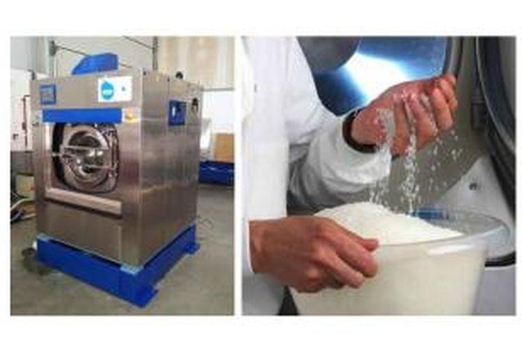 Mesin cuci Xeros karya Stephen Burkinshaw dari University of Leeds bisa digunakan tanpa air. Mesin cuci ini mengunakan manik-manik nilon polimer yang menyerap kotoran dan lemak.
